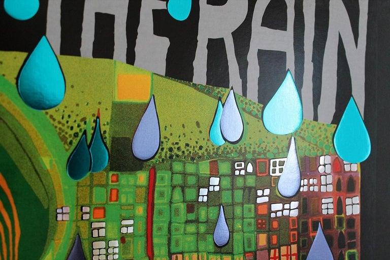 Save the Rain by Friedensreich Hundertwasser 1983 Swiss Edition Art Print In Good Condition For Sale In Debrecen-Pallag, HU