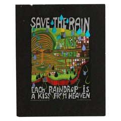 Save the Rain by Friedensreich Hundertwasser 1983 Swiss Edition Art Print