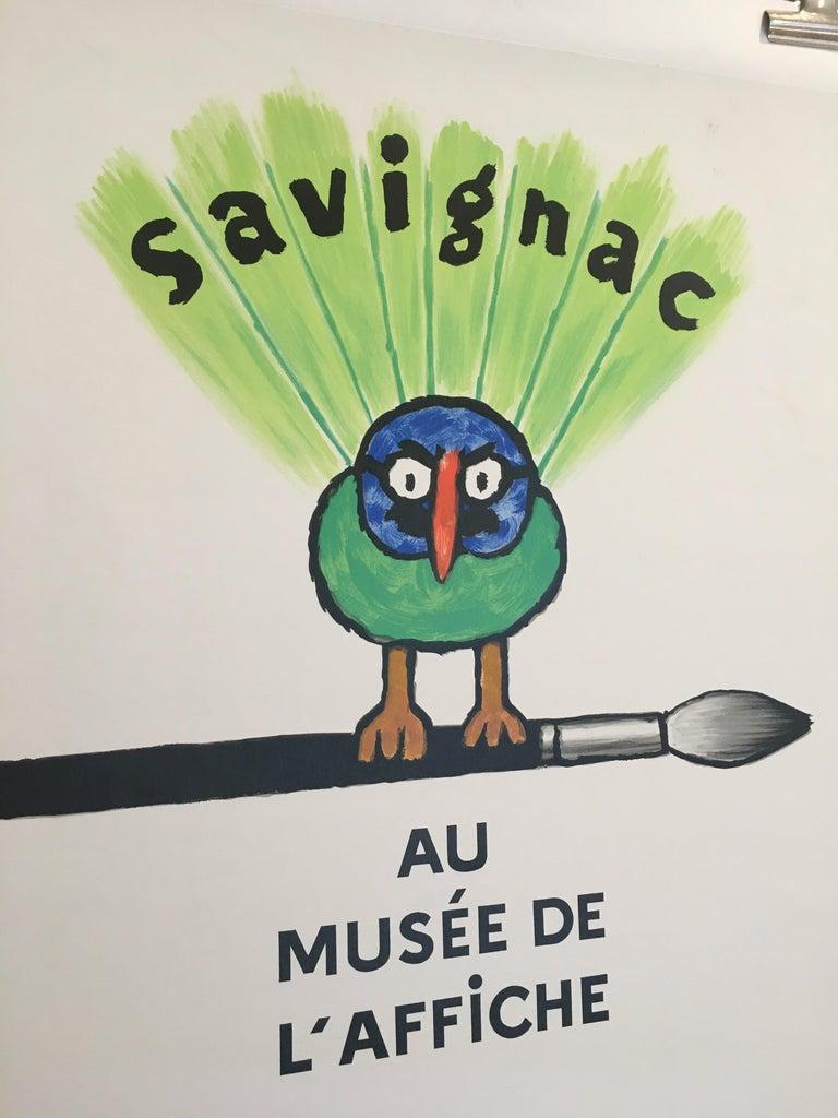 Savignac Bird 'Au Musee De L'Affich' original vintage French exhibition poster