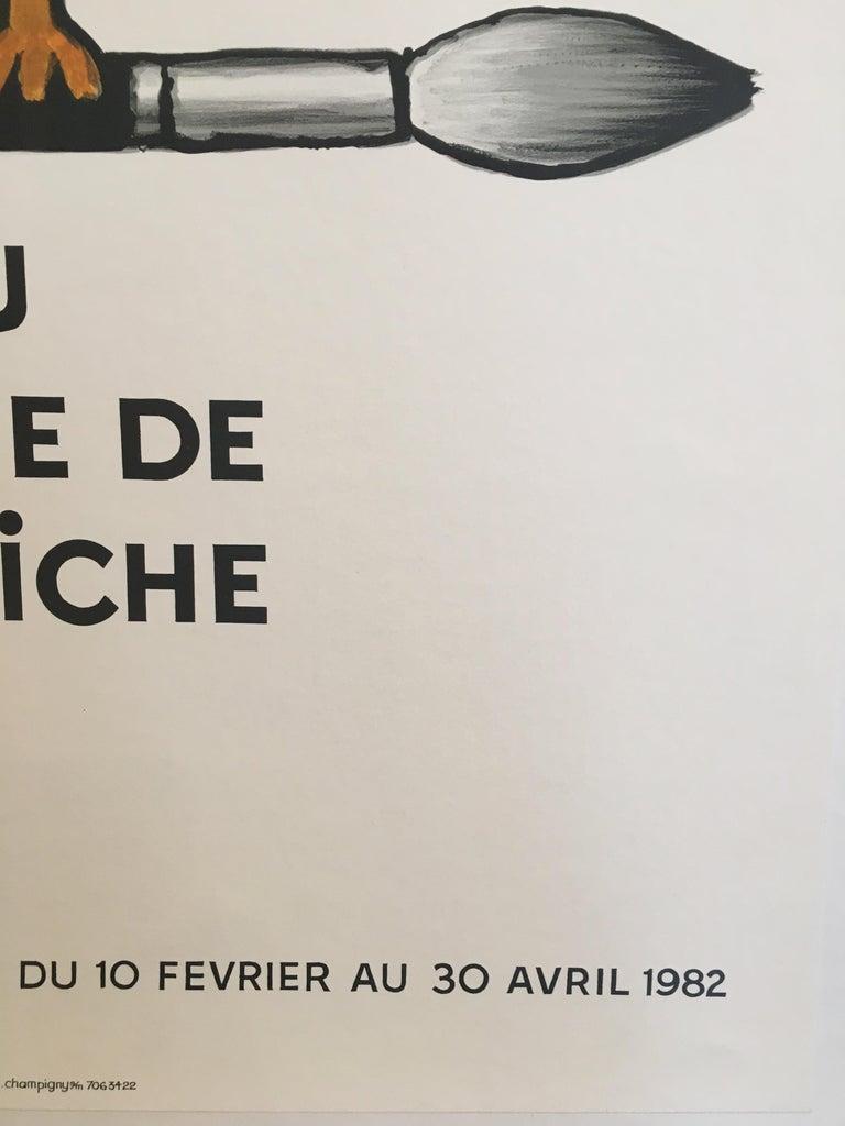 Savignac Bird 'Au Musee De L'Affich' Original Vintage French Exhibition Poster In Good Condition For Sale In Melbourne, Victoria