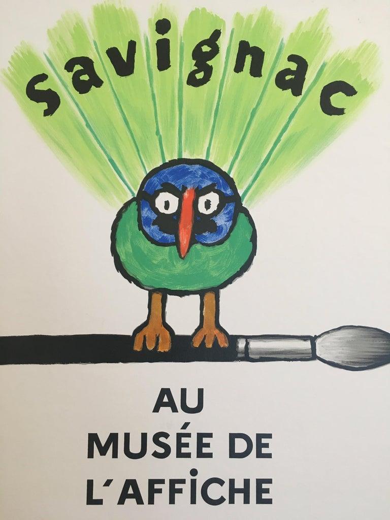 Paper Savignac Bird 'Au Musee De L'Affich' Original Vintage French Exhibition Poster For Sale