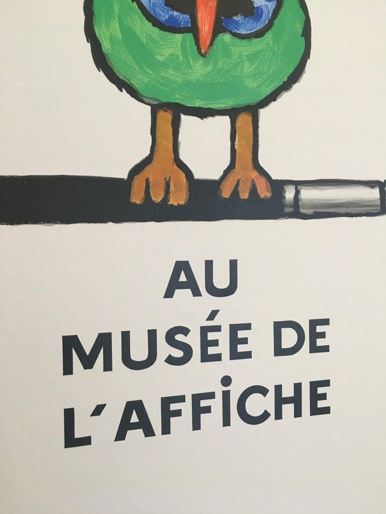 Savignac Bird 'Au Musee De L'Affich' Original Vintage French Exhibition Poster For Sale 2