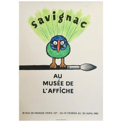 Savignac Bird 'Au Musee De L'Affich' Original Vintage French Exhibition Poster