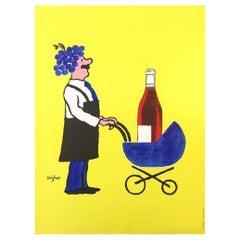Savignac Buvons Ici Le Vin Nouveau Poster