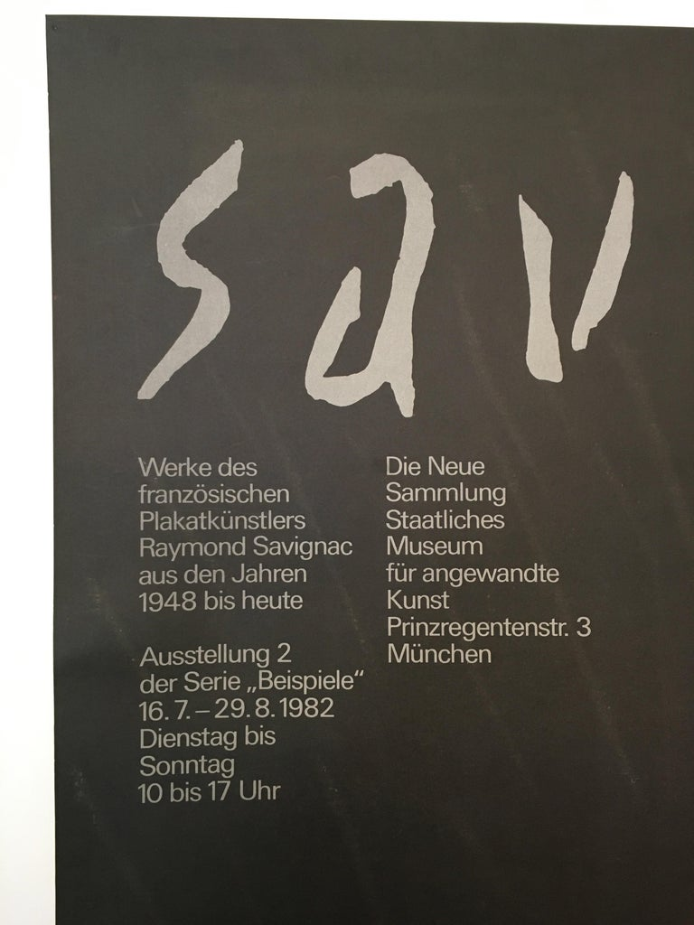 Savignac rainbow exhibition poster munich original vintage poster, 1982