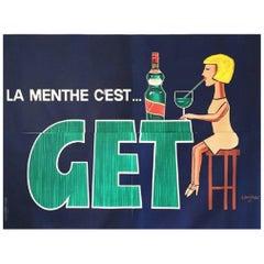 Savignac Raymond Get Oversize Woman Original Vintage Poster