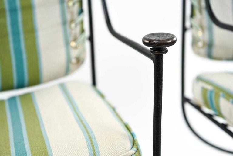 20th Century Savonarola Curule Iron and Brass Throne Chairs For Sale