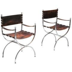 """""""Savonarola"""" Pair of Emperor Chairs by Maison Jansen"""