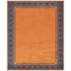 Savoy Noble Orange Hand Knotted Silk Rug 'Large-Size'