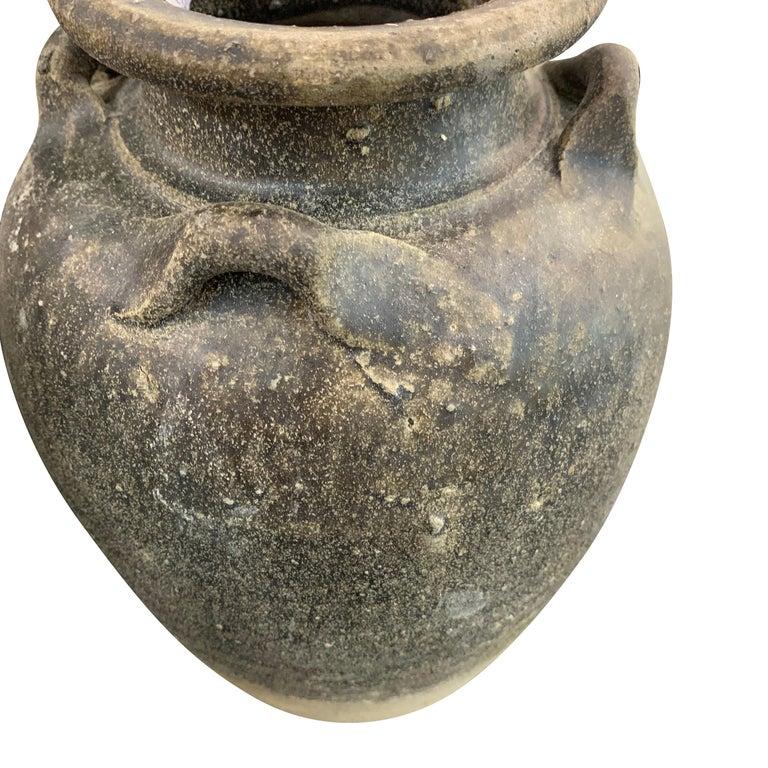 Terracotta Sawankhalok Ceramic Vase, Thailand, 16th Century For Sale