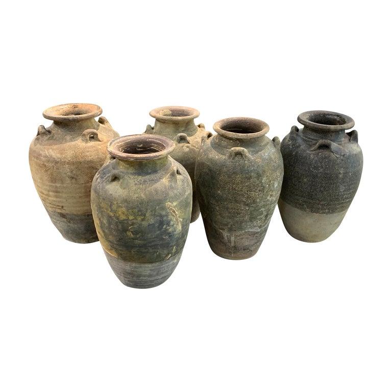 Sawankhalok Ceramic Vase, Thailand, 16th Century For Sale