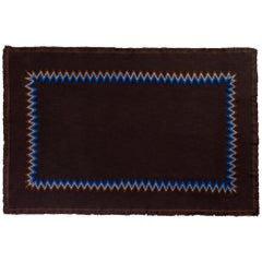 Sawclose Hand Embroidered Brown Throw Blanket
