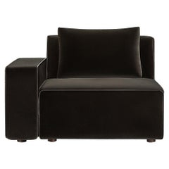 Sawyer Modular Sofa - Left Arm Chair Velvet Chocolate
