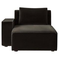 Sawyer Modular Sofa - Left Arm Chaise Velvet Chocolate