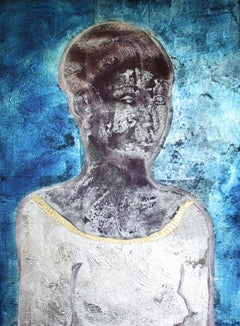 Oracle Of Delphi: Contemporary mixed media figurative painting by Sax Berlin