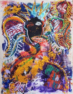 Angel Of Liberty.  Contemporary Neo Expressionist Painting