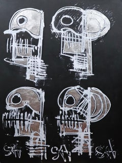 Black Skulls.  Contemporary Neo-Expressionist Painting