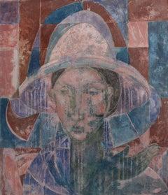 Blue Cigarette, Contemporary Figurative Oil Painting