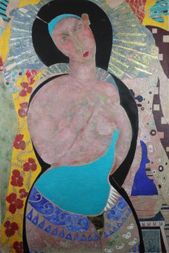 Elements of the Poet. Contemporary Figurative Oil painting