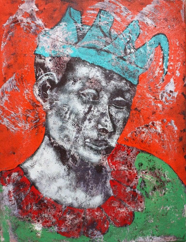 "Sax Berlin Figurative Painting - ""Fire Bird.""   Contemporary Figurative Oil Painting"