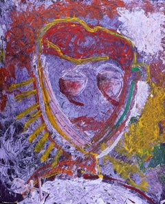 Guardian Sista. Acrylic Neo Expressionist Painting