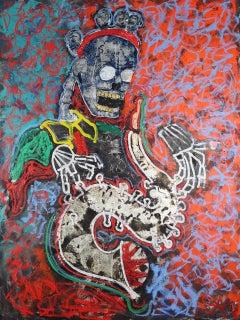 Heaven's Gate, Jazz Bardo. Mixed Media Contemporary Neo-Classicism