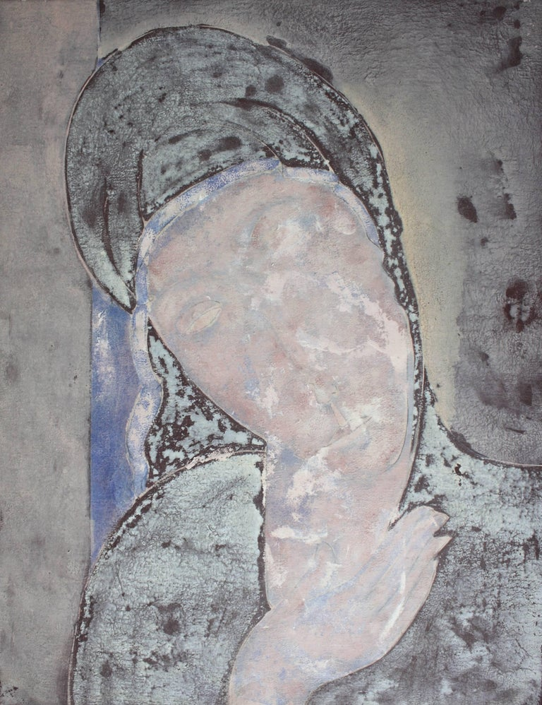 Sax Berlin Figurative Painting - Paxos Madonna. Contemporary Oil Painting