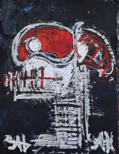 Red Skull.  Contemporary Neo-Expressionist Painting