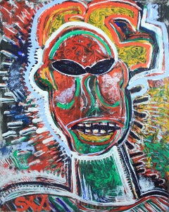 """SAMO In Shades""  Contemporary Homage to Basquiat by Sax Berlin"