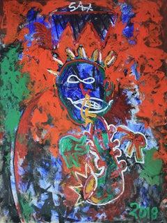 That Kat Coltrane, Neo Expressionist Portrait of John Coltrane by Sax Berlin