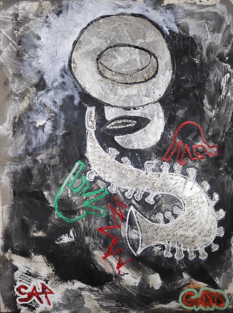 Sax Berlin Figurative Painting - That Kat Gato.