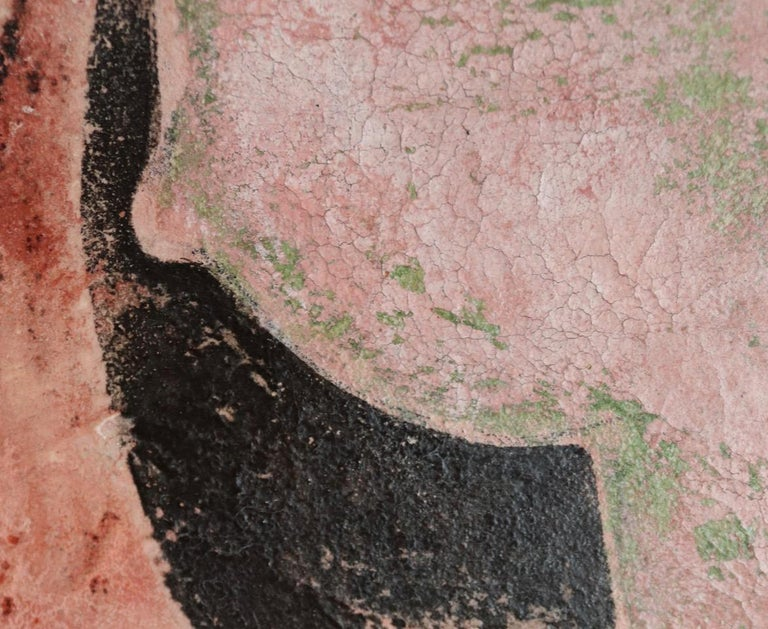 The Lost Frescos Of St Magdalene. Contemporary Figurative Painting - Brown Portrait Painting by Sax Berlin