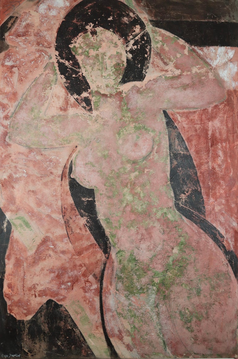 Sax Berlin Portrait Painting - The Lost Frescos Of St Magdalene. Contemporary Figurative Painting