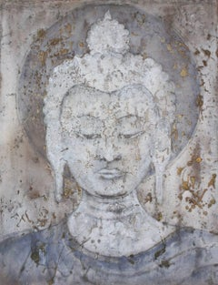 Transmission. Contemporary Painting of Buddha