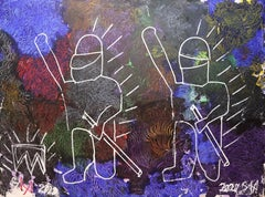 WE THE PEOPLE. Contemporary Neo Expressionist Painting
