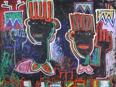 Wise Up We All From Africa. Large Neo Expressionist Painting