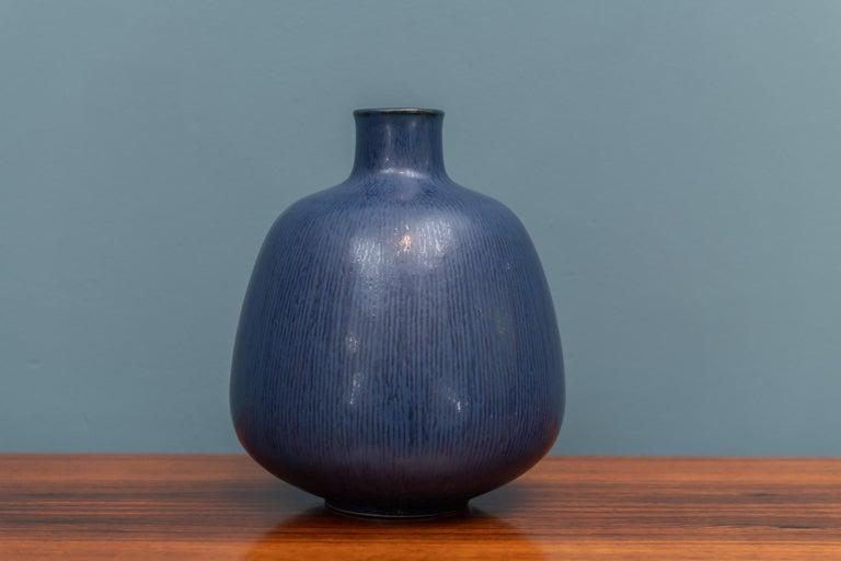 Scandinavian Modern Saxbo Ceramic Vase For Sale