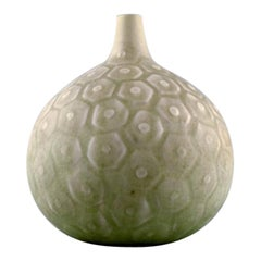 Saxbo, Large round vase with geometric pattern, 1940s-1950s.