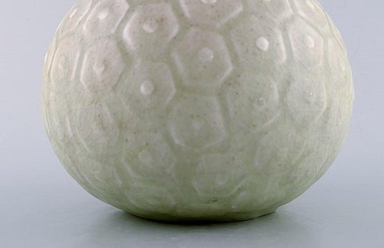 Danish Saxbo, Large round vase with geometric pattern, 1940s-1950s. For Sale