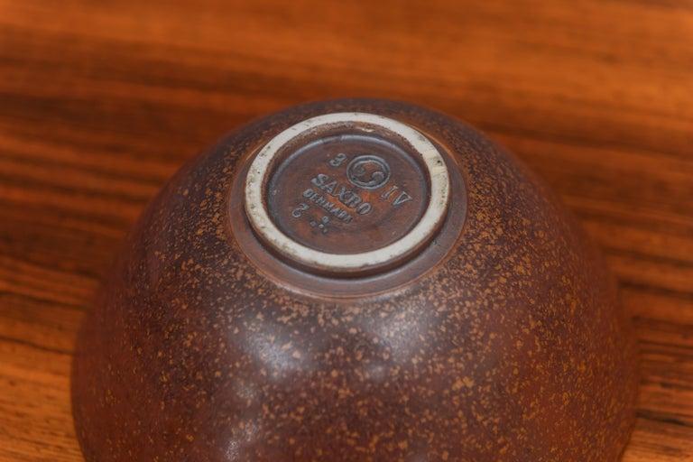 Danish Saxbo Stoneware Ceramic Bowl, Denmark For Sale