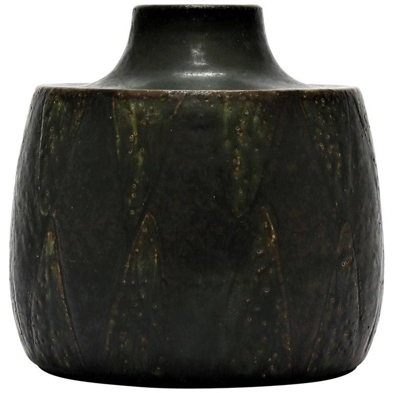 Eva Stæhr-Nielsen Saxbo stoneware vase, 1960s, offered by Helmer Design & Antik