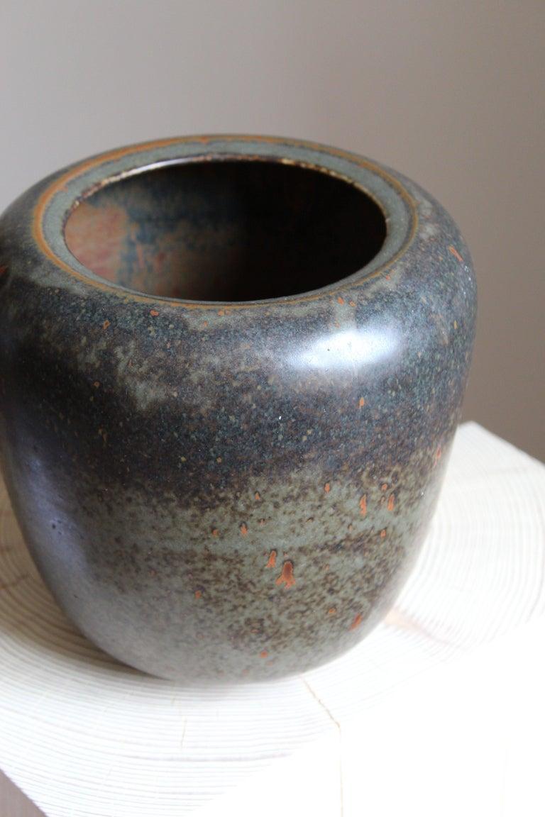 Danish Saxbo, Vase, Glazed Stoneware, Saxbo, Denmark, 1950s For Sale