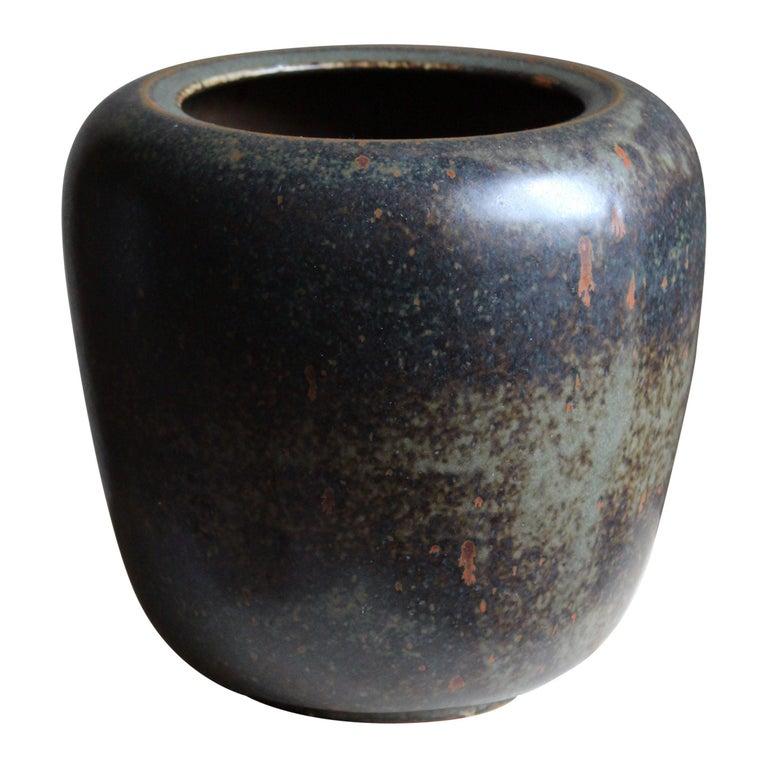 Saxbo, Vase, Glazed Stoneware, Saxbo, Denmark, 1950s For Sale
