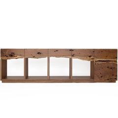 Sayab Sideboard contemporary design in Caribbean Walnut tropical hardwood