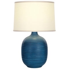 Sayles Table Lamp in Blue Ceramic by CuratedKravet