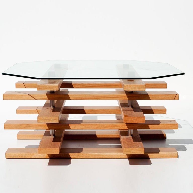 Italian Scacco Coffee Table by Apulia Design For Sale