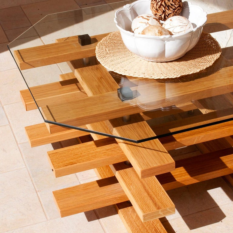 Contemporary Scacco Coffee Table by Apulia Design For Sale