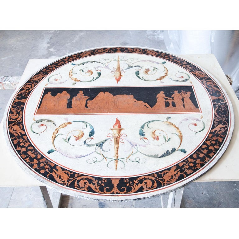 Neoclassical Scagliola Tabletop, First Half of the 19th Century For Sale