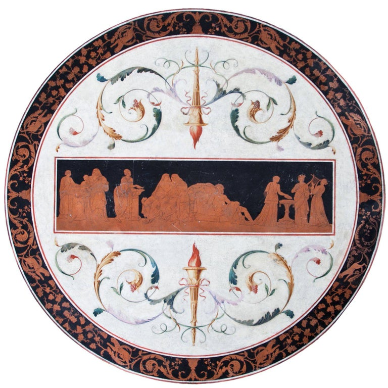 Scagliola Tabletop, First Half of the 19th Century For Sale