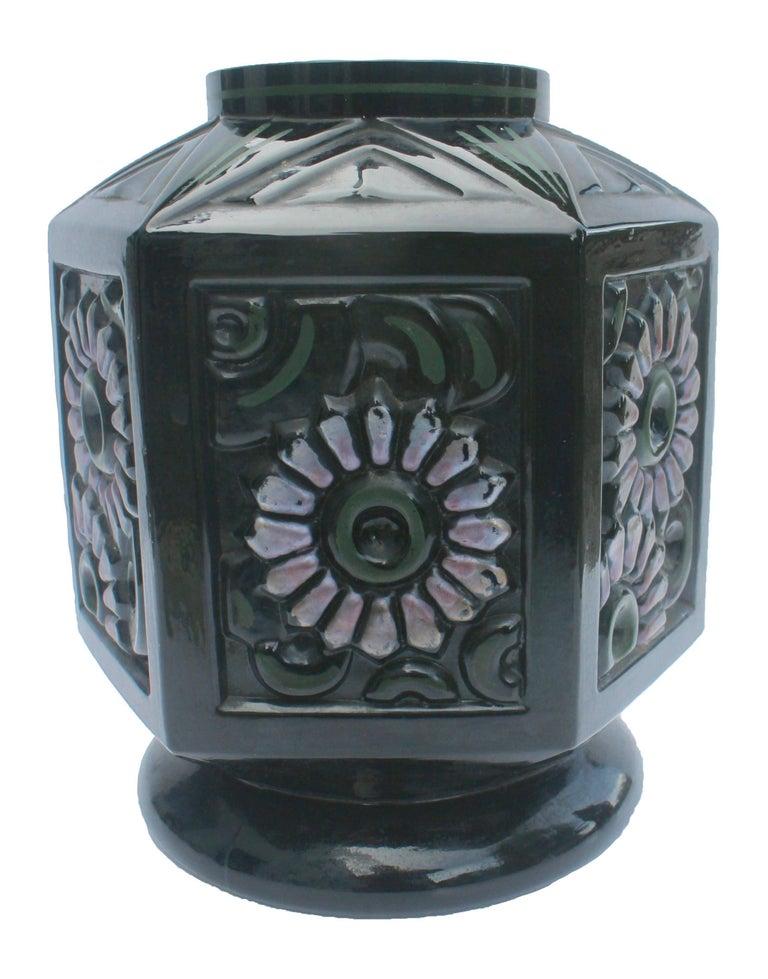 Art Deco Scailmont Art GlassVase Designed by Henri Heemskerk, Made in Belgium For Sale